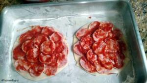 um pouco mais de molho de tomate
